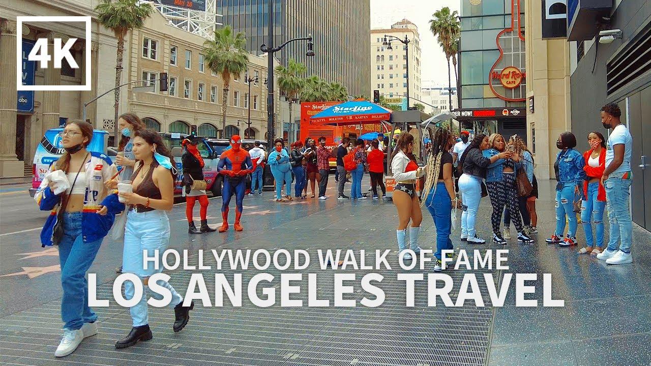 Download [4K] LOS ANGELES TRAVEL - Walking Hollywood Walk of Fame, Hollywood Blvd, California, USA, Travel