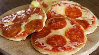 Pizza en sartén sin horno  ¡FÁCIL Y RÁPIDA!