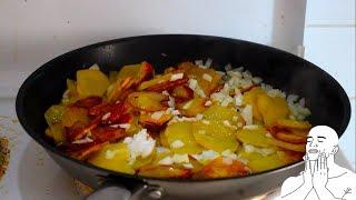 Как правильно жарить картошку/Картошка жареная с луком.