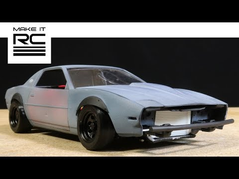 1/24 RC Drift Missile Firebird Build: Completing Body, Painting/Weathering, Dents, Accessories (E25)