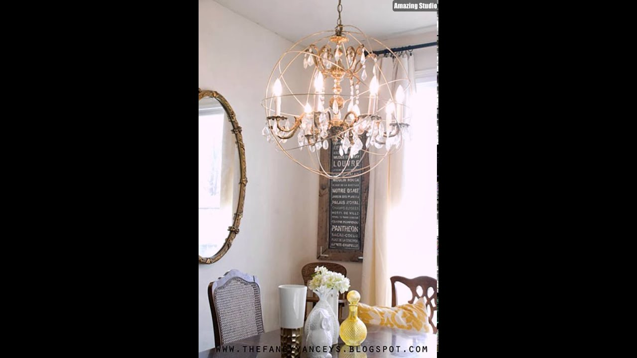 Restoration Hardware Knockoff DIY Orb Chandelier - Restoration Hardware Knockoff DIY Orb Chandelier - YouTube