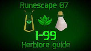 Runescape 2007 - 1-99 Herblore Guide