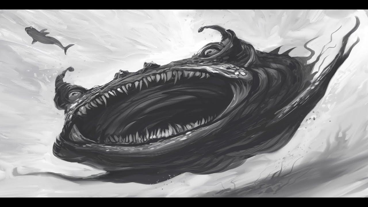 морские чудовища картинки карандашом заключается только