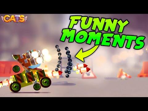 FUNNY MOMENTS & BEST BATTLES COMPILATION  C.A.T.S: Crash Arena Turbo Stars