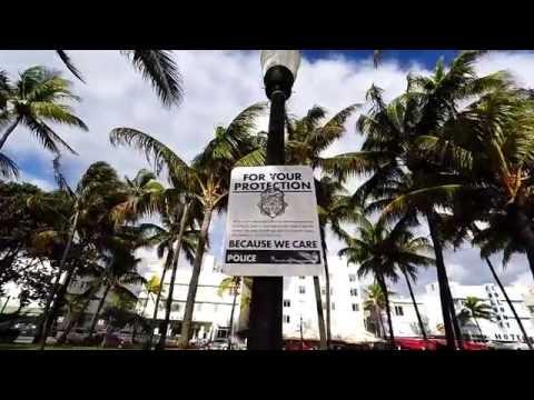 Awakening in Miami South Beach. News Cafe Ocean Drive. 2016