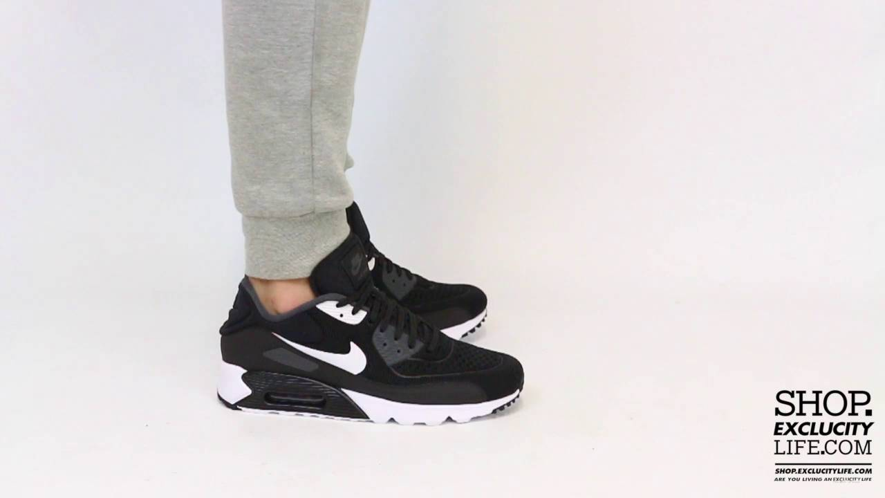 nike air max 90 black and white on feet