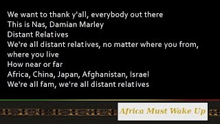 Nas & Damian Marley - Africa Must Wake Up ft. K'naan [Lyrics]