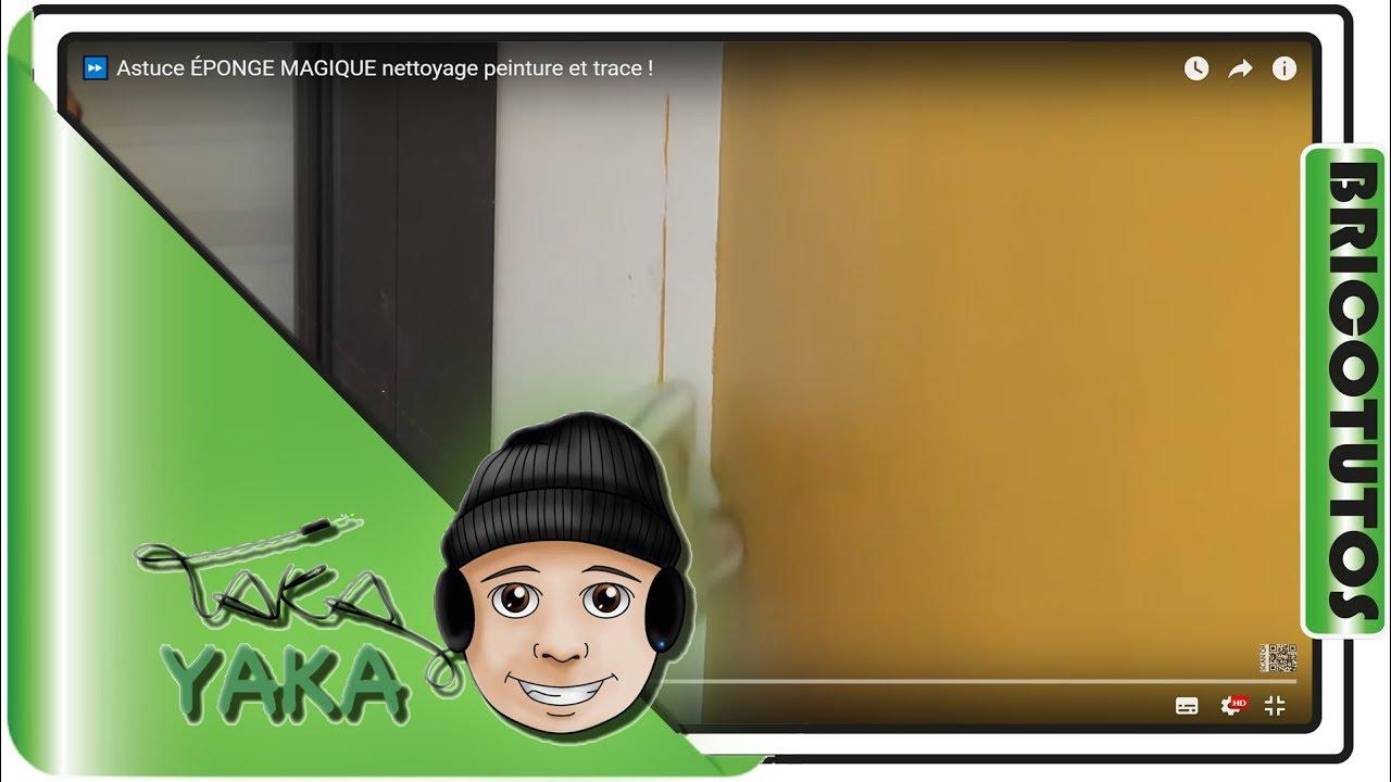 astuce peinture ponge magique nettoyage facile et rapide sans trace youtube. Black Bedroom Furniture Sets. Home Design Ideas