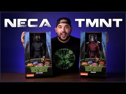 NECA TMNT Shredder & Foot Soldier Review