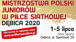 Mistrzostwa Polski juniorów w siatkówce - Dębica 2020 (dzień IV - sobota)