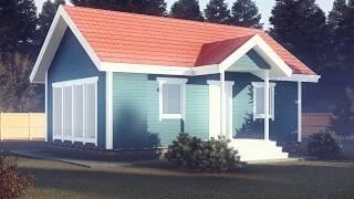 Каркасный дом 6х9 м. за 420 т.р.