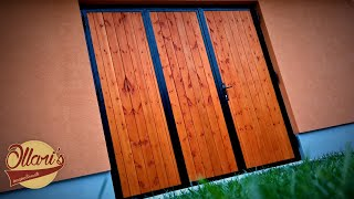 An Unusual way to Build an Insulated Folding Garage Door