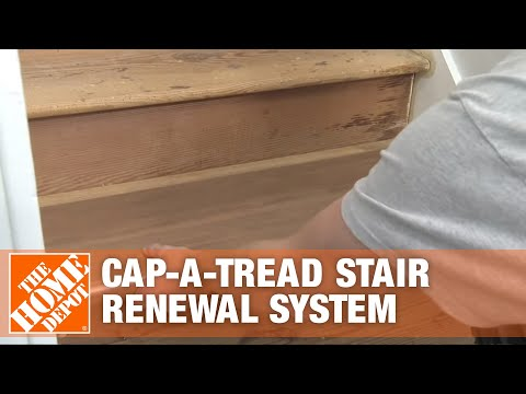 How To Install Cap A Tread Stair Renewal System The Home Depot | Home Depot Carpet Treads | Ottomanson Softy | Tread Covers | Rugs | Staircase | Stairs