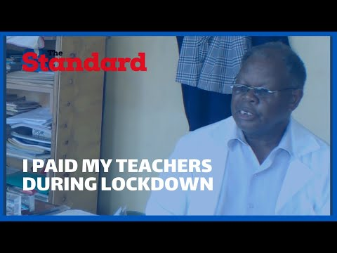 Meet Mwalimu Samwel Njau, the teacher continued paying his teachers even when schools were closed