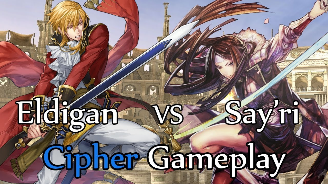 Fire Emblem Cipher 0 Gameplay: Eldigan vs Say'ri
