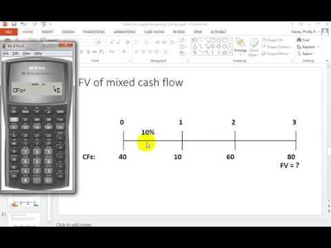 BA II Plus FV of mixed cash flows