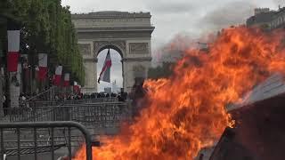 Gilets jaunes : retour des incidents sur les Champs-Élysées (14 juillet 2019, Paris)