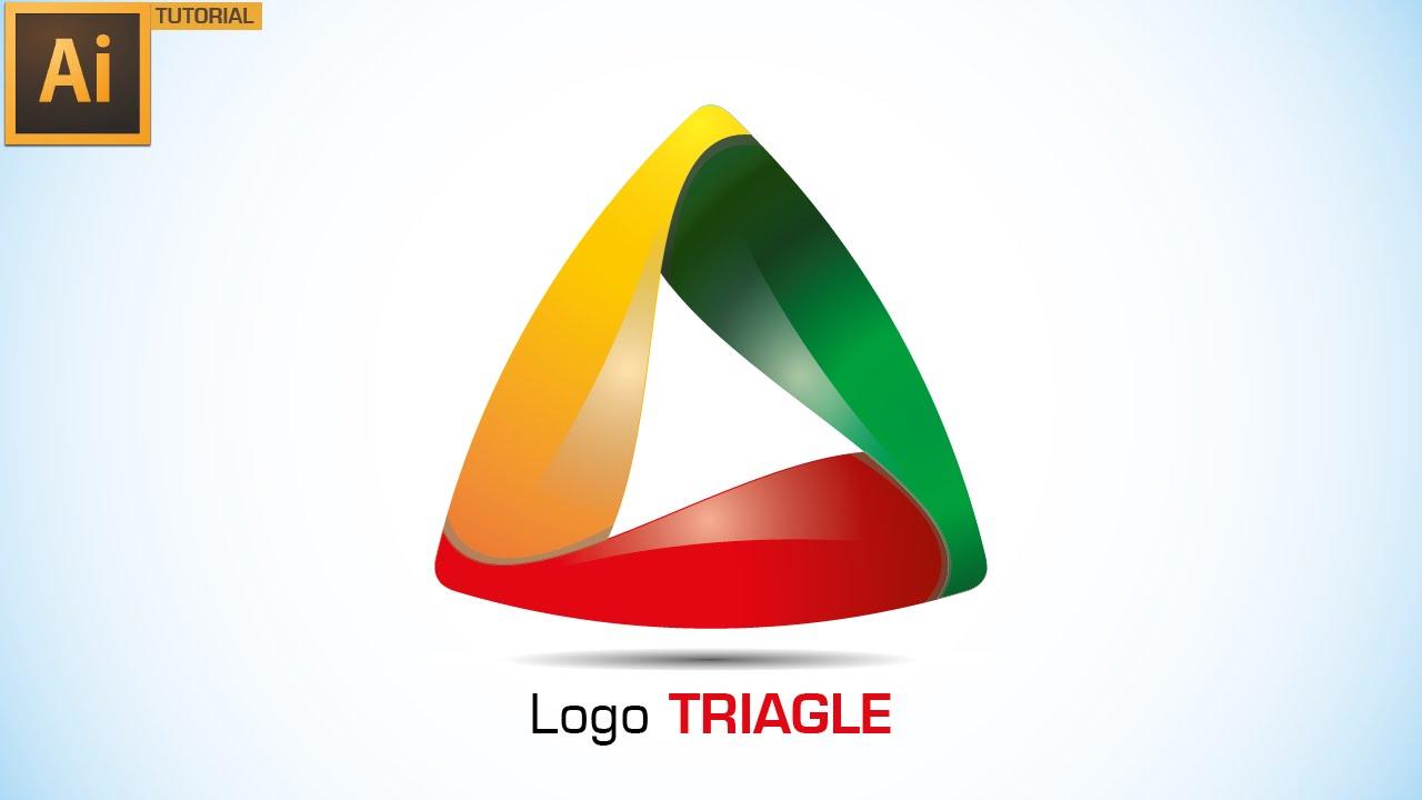illustrator tutorial graphic design logo triangle youtube