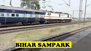 WAP7 Bihar Sampark Kranti Crawls Stops Ajaibpur