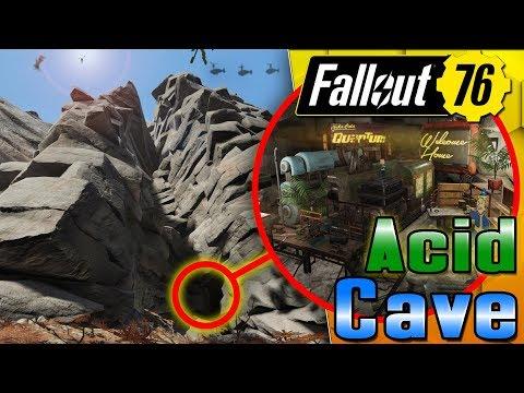 Secret Acid Lead Cave Fallout 76 Camp Build 55k Subs Youtube