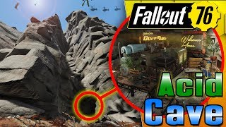SECRET Acid & Lead Cave  - Fallout 76 CAMP Build! 55K Subs!!