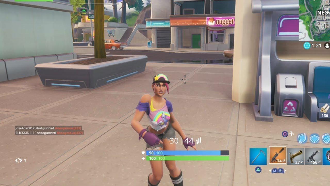 New Work It Emote Gameplay Showcase Beach Bomber Skin Gameplay Fortnite Shop Season 9 Youtube