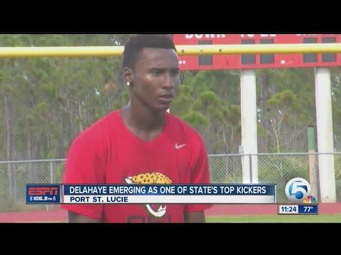 Donald Delahaye emerging as top kicker