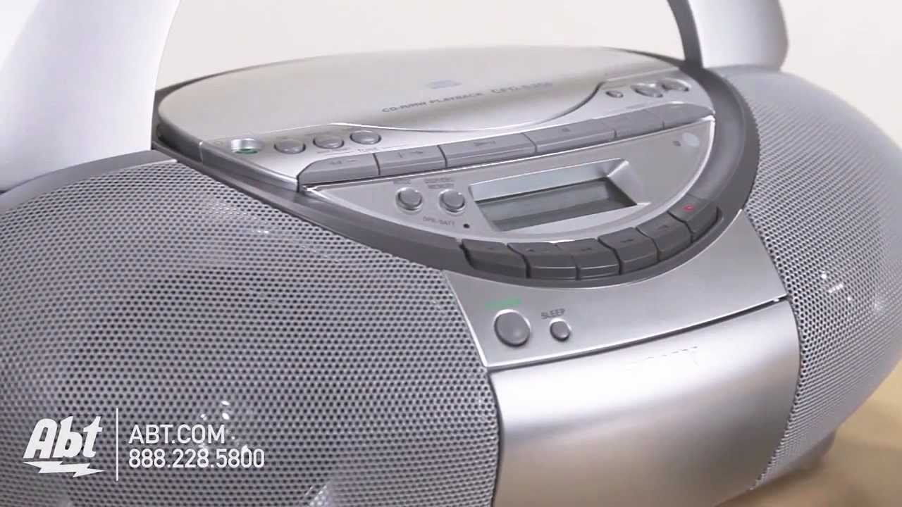 overview of sony cd radio cassette recorder boombox cfd s350silver youtube [ 1280 x 720 Pixel ]