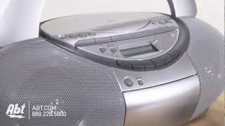 Overview of Sony CD Radio Cassette Recorder Boombox - CFD-S350SILVER