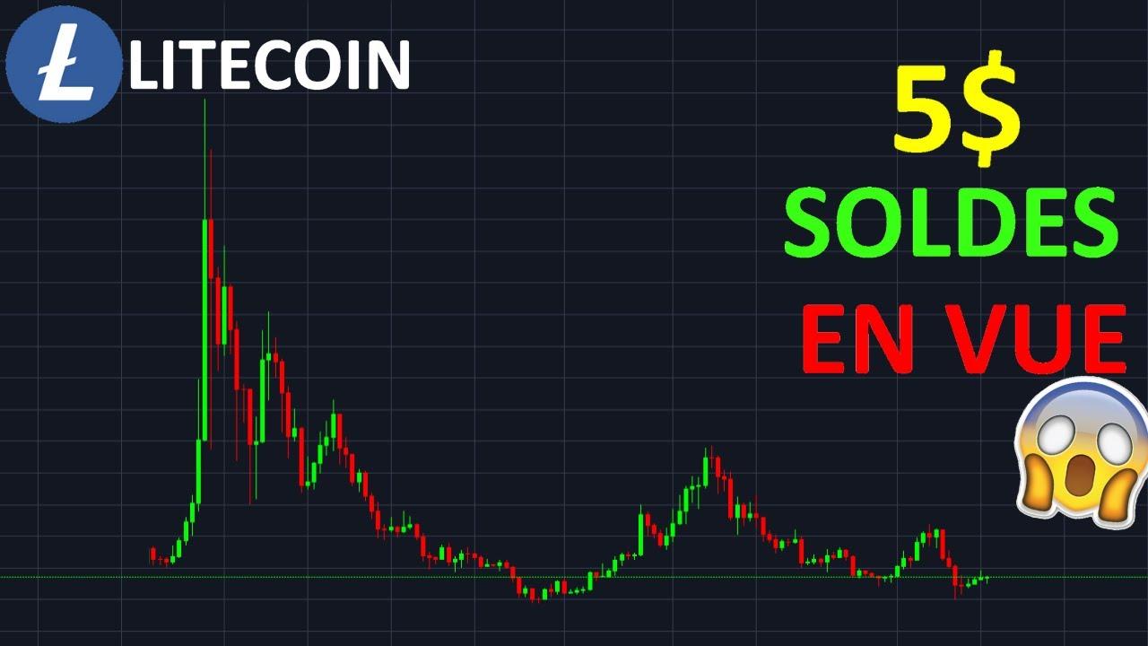 LITECOIN 5$ LES SOLDES ARRIVENT !? ltc analyse technique crypto monnaie bitcoin