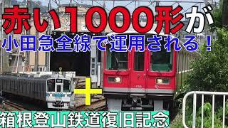 【速報】赤い1000形が小田急全線で使用! 「レーティッシュカラー」の編成 6両との連結で