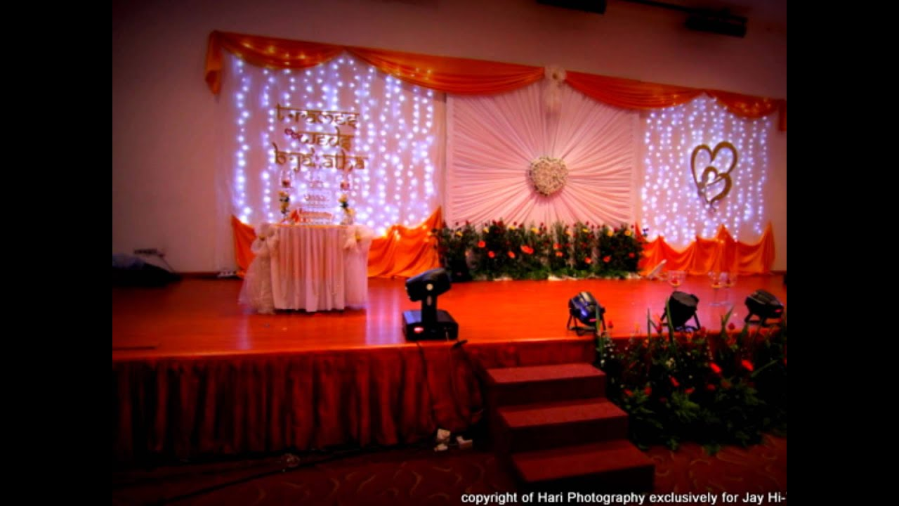 Indian wedding reception youtube for Hall decoration images