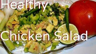 Healthy Leftover Chicken Avocado Salad Or Sandwich Recipe Video By Chawlas-kitchen.com Episode#213