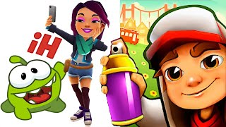 Subway Surfers JOLIEN vs OM NOM RUN and MORE Gameplay (Android/iOS)