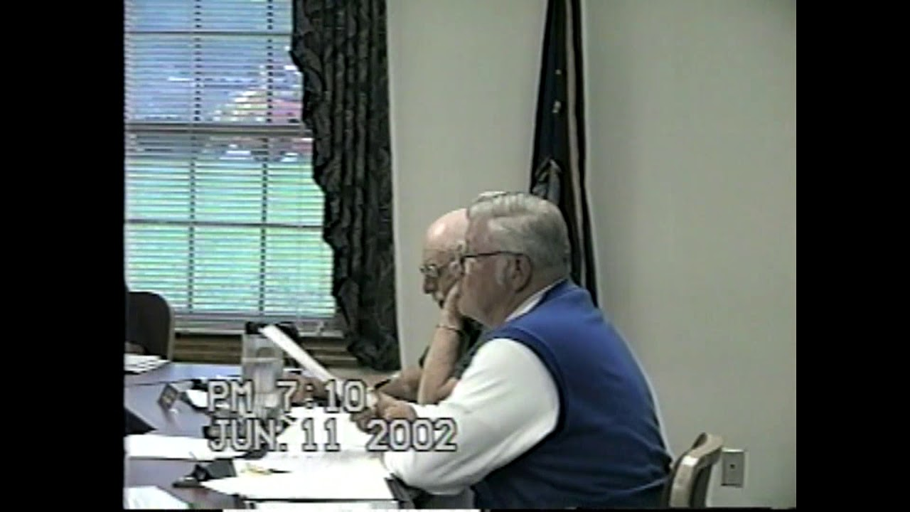 Champlain Town Board Meeting  6-11-02