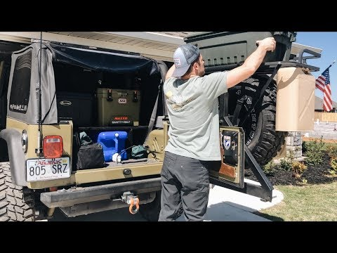 Jeep TJ Overland Trip Pt. 1 – Packing & Prepping – 2019 Bonfire Rendezvous