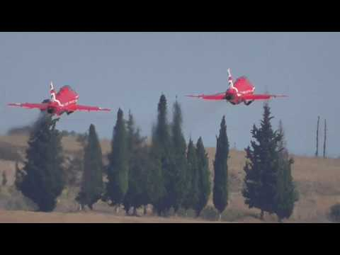 Athens Flying Week 2017  Red Arrows Red1 and Red2 Sunday flight