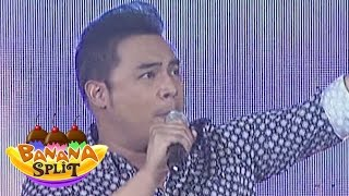 "Jed Madela sings ""You Mean The World To Me"" on Banana Split"