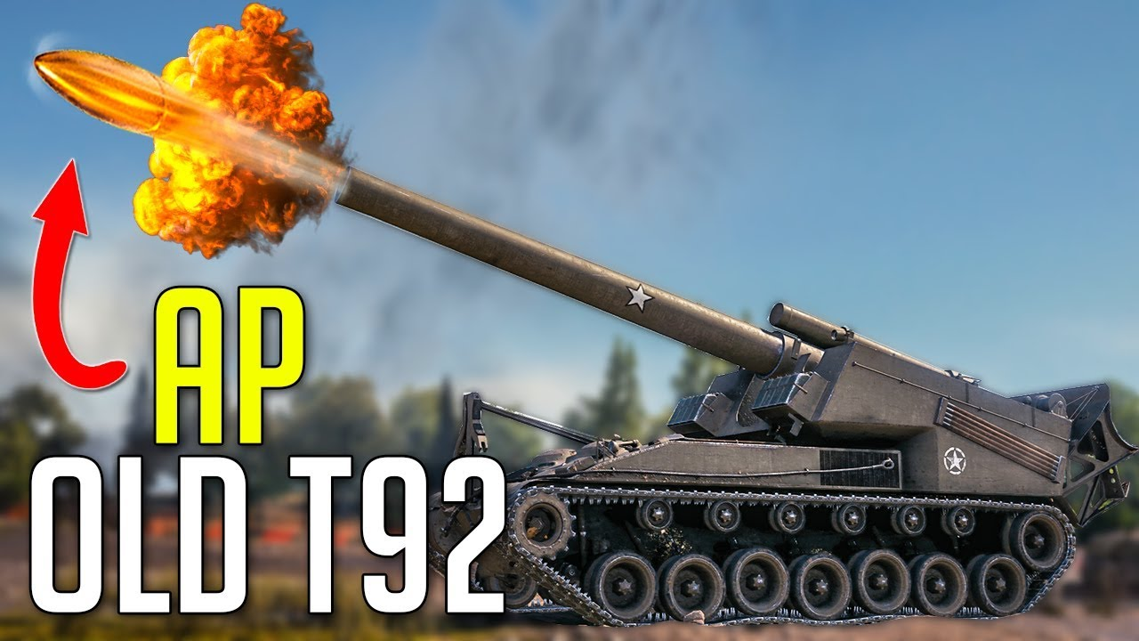 OLD T92 with AP Rounds • Cover Your Eyes ► World of Tanks T92 HMC Gameplay