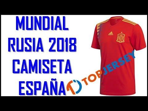 Wold Cup Rusia 2018 Camiseta Selección España Replica Topjersey.ru