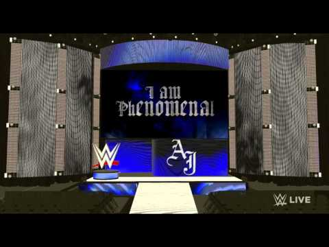 AJ Styles WWE entrance on a Monday Night Raw Stage  (w/Arena Effects)