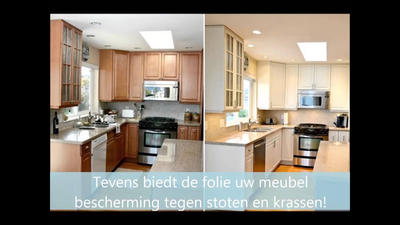 Wrap Folie Keuken : Look design presentatie meubel renovatie folie keuken youtube
