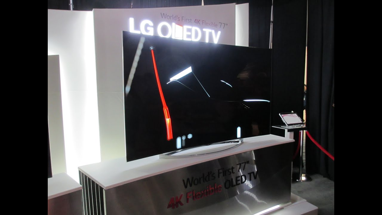 lg flexible tv screen see the 4k oled bend at ces 2014. Black Bedroom Furniture Sets. Home Design Ideas