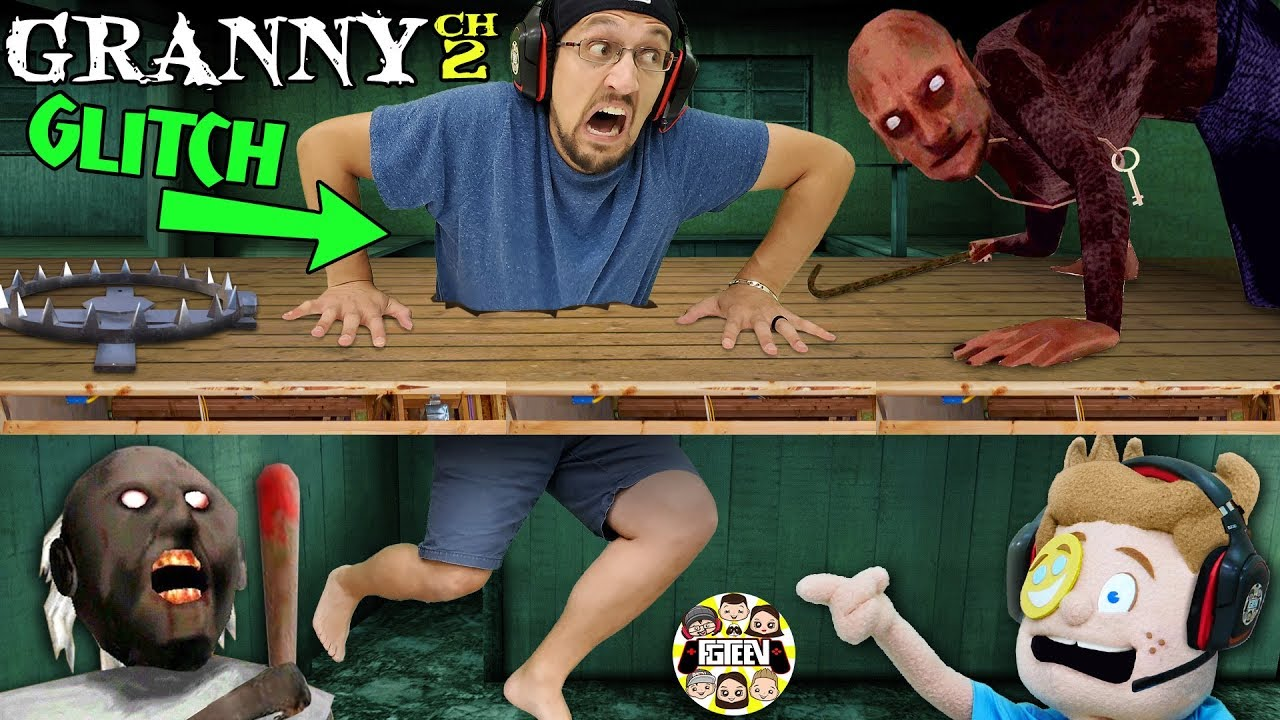 STUCK in GRANNYS FLOOR! + Puppet vs Grandpa (FGTeeV Glitches the Games)