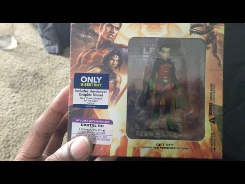BLU-RAY UNBOXING - Justice League vs. Teen Titans (Blu-ray/DVD) (Graphic Novel & Figurine)