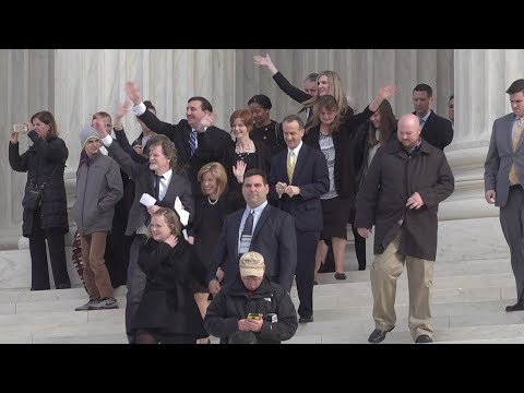 At the steps of the US Supreme Court on the day of arguments for Masterpiece Cakeshop