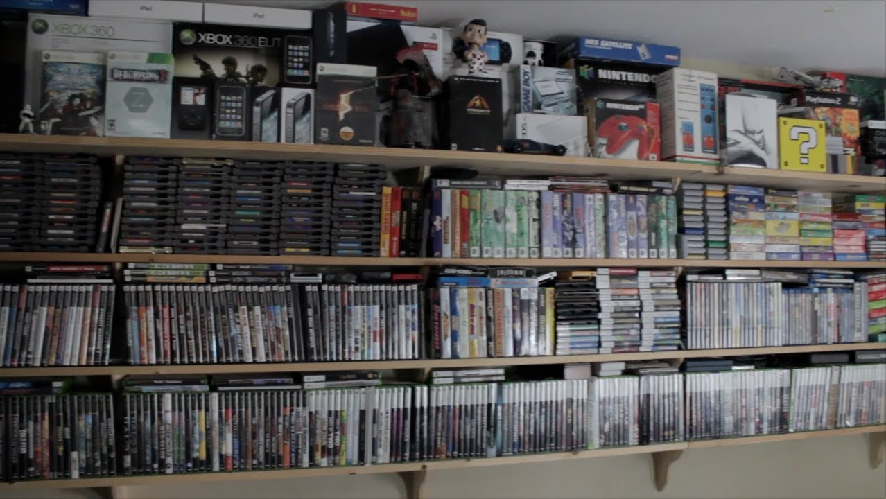 closet setup ideas - My Video Game Room Tour and Statue Collection 2013