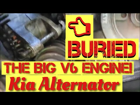 Alternator Removal Replacement Kia Optima 2001 2006 Or