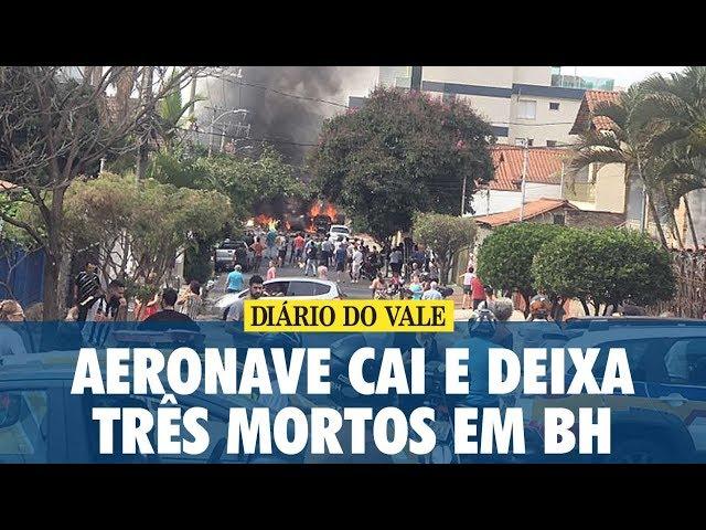 Acidente envolvendo aeronave deixa três mortos em Belo Horizonte