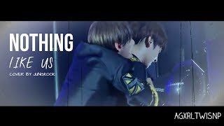 Gambar cover JungKook ft. V (TaeHyung) - Nothing like us {MASH UP} [Lyrics + Sub Esp]